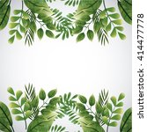 tropical leaves design. leaf... | Shutterstock .eps vector #414477778