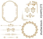 vintage set. floral elements... | Shutterstock .eps vector #414491272