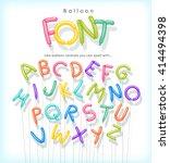 vector alphabet letters shaped...   Shutterstock .eps vector #414494398