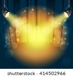 light spots on curtains... | Shutterstock .eps vector #414502966