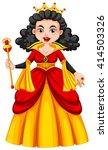 queen in red and yellow dress...   Shutterstock .eps vector #414503326