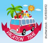 vacation theme with van and... | Shutterstock .eps vector #414503452