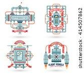 steam punk logos. vintage... | Shutterstock .eps vector #414507862