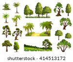 trees  nature  forest  vector... | Shutterstock .eps vector #414513172