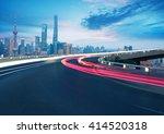empty road textured floor with... | Shutterstock . vector #414520318