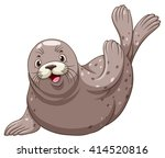 seal with happy face... | Shutterstock .eps vector #414520816