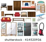 furnitures and electronic... | Shutterstock .eps vector #414520936