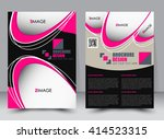 abstract flyer design... | Shutterstock .eps vector #414523315