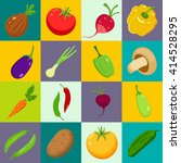 set of vegetables. cartoon... | Shutterstock .eps vector #414528295