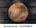wheat on the wooden table | Shutterstock . vector #414530842