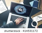 technology digital network cog... | Shutterstock . vector #414531172