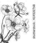 anemone flowers in bouquet... | Shutterstock . vector #414532768