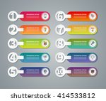 set of infographic numbered... | Shutterstock .eps vector #414533812