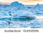 Beautiful View Of Icebergs In...