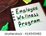 employee wellness program... | Shutterstock . vector #414545482