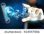 social media social network... | Shutterstock . vector #414547006