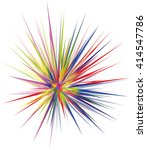 abstract colorful explosion... | Shutterstock . vector #414547786