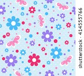 childish seamless pattern with... | Shutterstock .eps vector #414555766