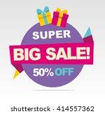 super  big sale banner. vector...   Shutterstock .eps vector #414557362