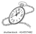 pocket watch isolated on white... | Shutterstock .eps vector #414557482