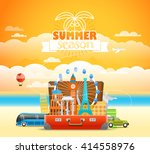 vacation travelling composition ... | Shutterstock .eps vector #414558976