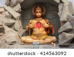 hindu god hanuman sculpture... | Shutterstock . vector #414563092