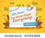 the ocean heals everything.... | Shutterstock .eps vector #414563686