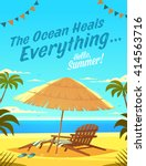 the ocean heals everything.... | Shutterstock .eps vector #414563716