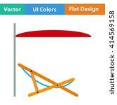 flat design icon of sea beach...