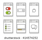 browser window template with...