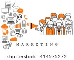 marketing team on white... | Shutterstock .eps vector #414575272