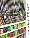 austin  tx   nov 7  rack of... | Shutterstock . vector #414576976