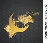 ramadan greetings background.... | Shutterstock .eps vector #414577942