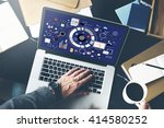 computer connection business... | Shutterstock . vector #414580252