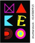 creative vector typography... | Shutterstock .eps vector #414580915