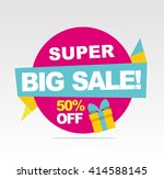 big  super sale banner. vector... | Shutterstock .eps vector #414588145