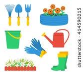 set of gardening elements ... | Shutterstock .eps vector #414590215