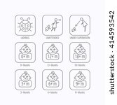 infant child  ladybug and... | Shutterstock .eps vector #414593542