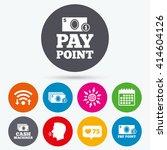 wifi  like counter and calendar ... | Shutterstock .eps vector #414604126