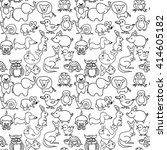 baby animals icons seamless... | Shutterstock .eps vector #414605182
