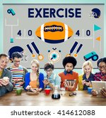 league sport fitness exercise... | Shutterstock . vector #414612088