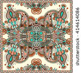 authentic silk neck scarf or... | Shutterstock .eps vector #414614086