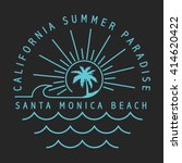 california surfer typography  t ... | Shutterstock .eps vector #414620422