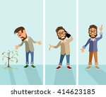 vector illustration of a three... | Shutterstock .eps vector #414623185