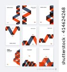 set of brochure template layout ... | Shutterstock .eps vector #414624268