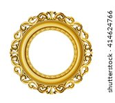 3d golden vintage classic frame ... | Shutterstock . vector #414624766