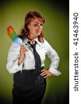 housemaid woman with tie | Shutterstock . vector #41463940
