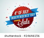 4th of july sale  sale paper... | Shutterstock .eps vector #414646156