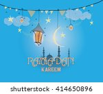 creative greeting card design... | Shutterstock .eps vector #414650896