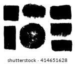 modern brush strokes. vector... | Shutterstock .eps vector #414651628